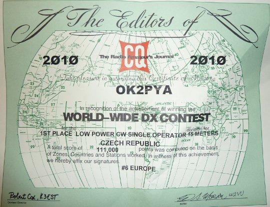 CQ WW CW 2010